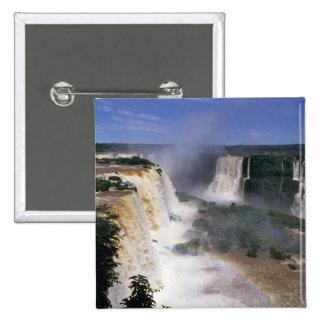 Iguacuの滝、ブラジル 5.1cm 正方形バッジ