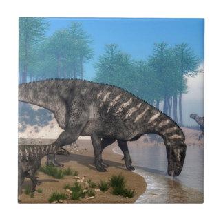 Iguanodonの恐竜 タイル