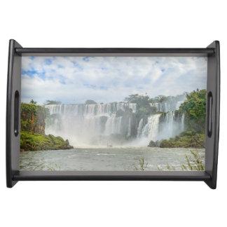 Iguazu公園の滝の景色 トレー