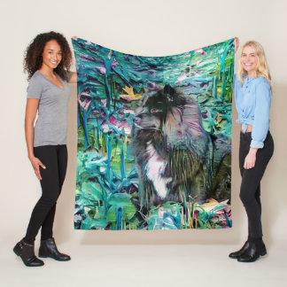 IHANA Finnish Lapphund  fleece blanket 3 sizes フリースブランケット