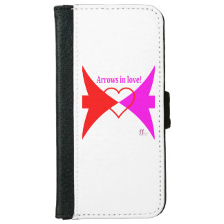IIデザイン-愛の矢が付いているウォレットケース iPhone 6/6S ウォレットケース