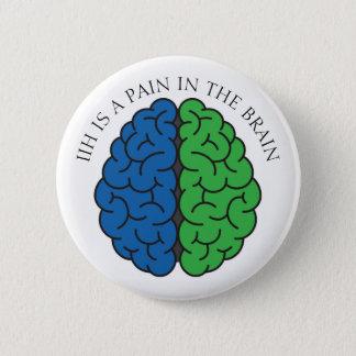 IIHの頭脳の苦痛 缶バッジ