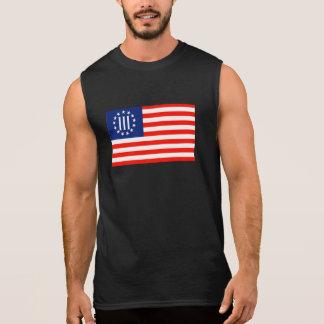 III旗 袖なしシャツ