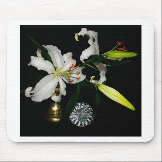 Iirshのデザイン-黄銅および花のコレクション マウスパッド