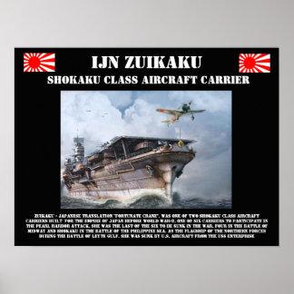 IJN Zuikiakuの航空母艦ポスター ポスター