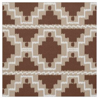 Ikatのアステカな種族-チョコレート色および暗灰色 ファブリック