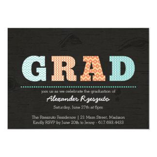 Ikatの卒業生-卒業の招待状 12.7 X 17.8 インビテーションカード