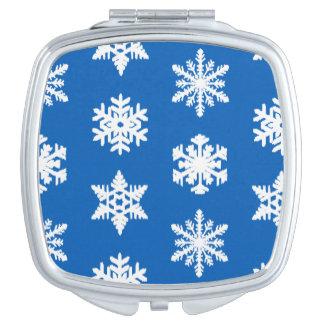Ikatの雪片-コバルトブルーおよび白