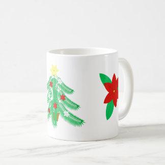 Ikebanaのクリスマスツリーのマグ コーヒーマグカップ