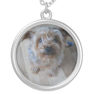 IKKLEの小犬 シルバープレートネックレス