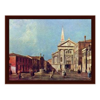 IlカンポE La Chiesa DiサンフランチェスコDellaのVigna. ポストカード