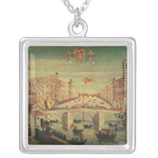 Il Gioco del Ponteのdei Pisani シルバープレートネックレス