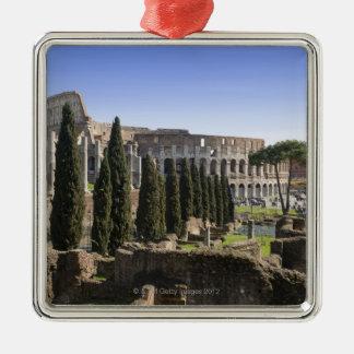Il PalatinoからのローマのColosseumの台なし、 メタルオーナメント