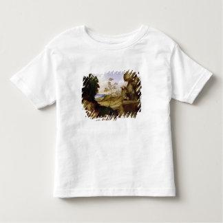 Il Tramonto (日没) (キャンバスの油) トドラーTシャツ