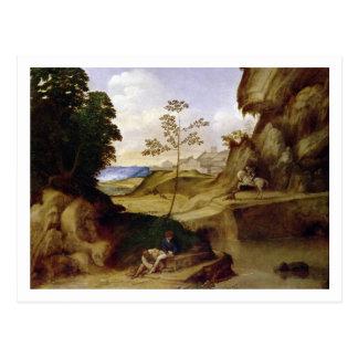 Il Tramonto (日没) (キャンバスの油) ポストカード