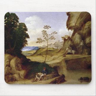 Il Tramonto (日没) (キャンバスの油) マウスパッド