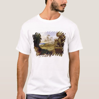 Il Tramonto (日没) (キャンバスの油) Tシャツ