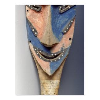 Ile de Vao、ニューカレドニアからのマスクに、ほぞを造って下さい ポストカード