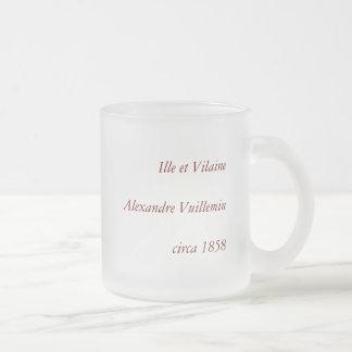 IlleとVilaine部、フランスの1858地図 フロストグラスマグカップ
