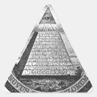 Illuminatiすべての見る目 三角形シール