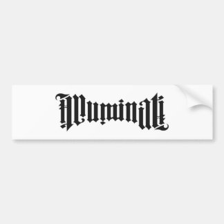 Illuminatiのロゴ バンパーステッカー