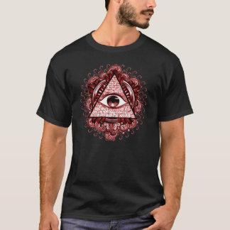 Illuminatiの記号のティー Tシャツ