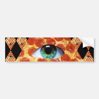 Illuminatiピザ バンパーステッカー