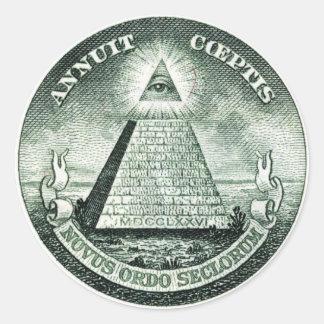 Illuminati米国の素晴らしいシール ラウンドシール