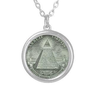 Illuminati -すべての見る目 シルバープレートネックレス