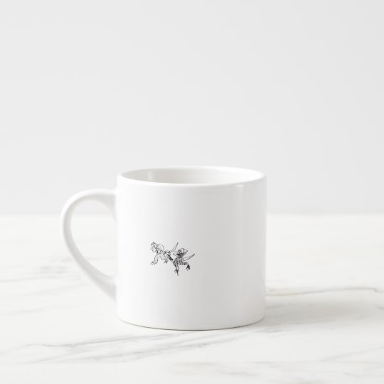 "Illustlation Espresso Cup ""Commute""   A.K エスプレッソカップ"
