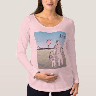 ILMの妊婦のな長袖のTシャツ マタニティTシャツ