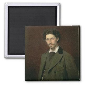 Ilya Efimovich Repin 1876年のポートレート マグネット