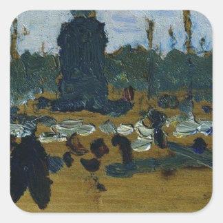 Ilya Repin著セント・ピーターズバーグの宮殿の正方形 スクエアシール