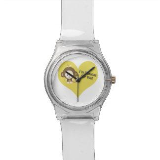 Imあなたのためのバナナ猿 腕時計