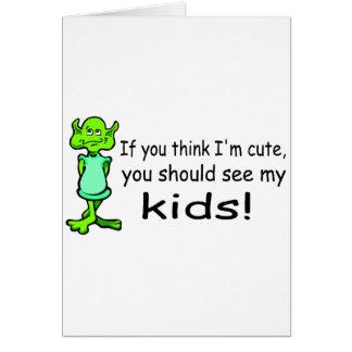 Imをかわいい考えれば外国私の子供に会うべきです カード