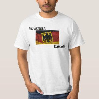 Imドイツ人のDammit白いTシャツ Tシャツ