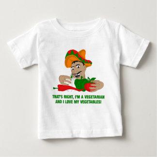 Imベジタリアンおよび私は私の野菜を愛します ベビーTシャツ