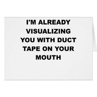 IM既にあなたののガムテープとの視覚化します カード