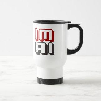 IM AI -私は赤い一般的な人工知能です トラベルマグ