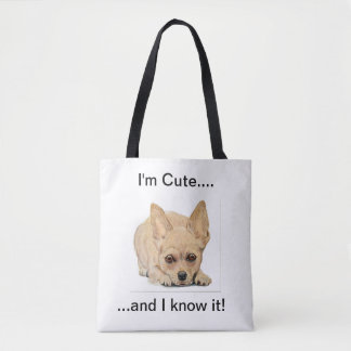 I'm cute and I know it! by Ohio artist Carol Zeock トートバッグ