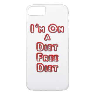 I'm On A Diet Free Diet iPhone 8/7 Case iPhone 8/7ケース