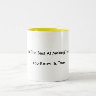 Im Tea.Youの作成のベストは本当を知っています ツートーンマグカップ