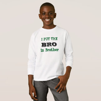 I'M THE BRO IN BROTHER kids top Tシャツ