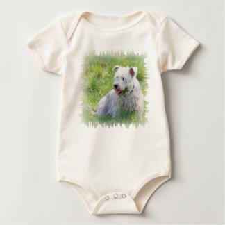 Imaalテリア犬のユニセックスな幼児クリーパーの谷間 ベビーボディスーツ