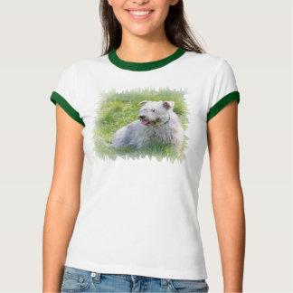 Imaalテリア犬の女性のTシャツ、ギフトの谷間 Tシャツ