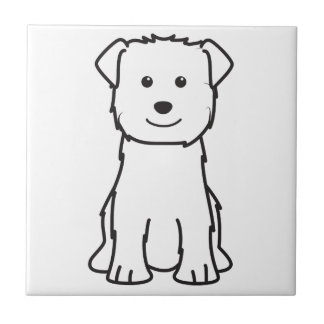 Imaalテリア犬の漫画の谷間 正方形タイル小