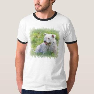 Imaalテリア犬メンズ信号器のTシャツのギフトの谷間 Tシャツ