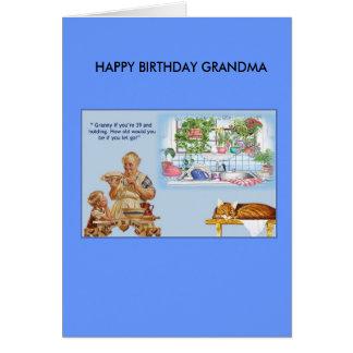 image0033のハッピーバースデーの祖母の(3)をコピーして下さい カード