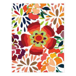 imagemの花柄 ポストカード