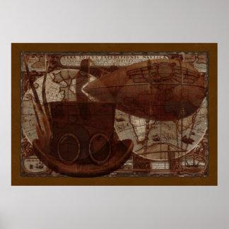 Imaginarium Steampunkの混合メディア ポスター
